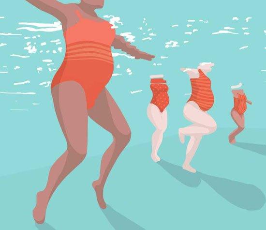 السباحة للحوامل