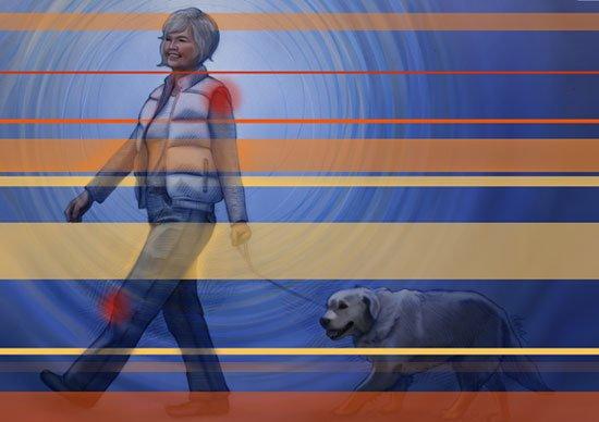 المشي مفيد لصحة المفاصل