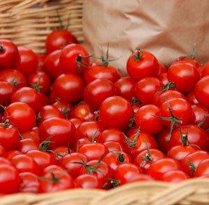 السعرات الحرارية في الطماطم الكرزية